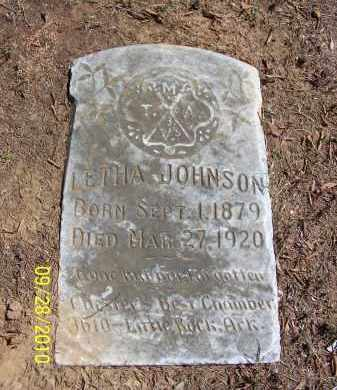 JOHNSON, LETHA - Pulaski County, Arkansas | LETHA JOHNSON - Arkansas Gravestone Photos