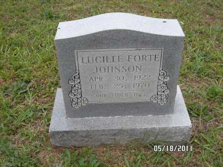 JOHNSON, LUCILLE - Pulaski County, Arkansas | LUCILLE JOHNSON - Arkansas Gravestone Photos