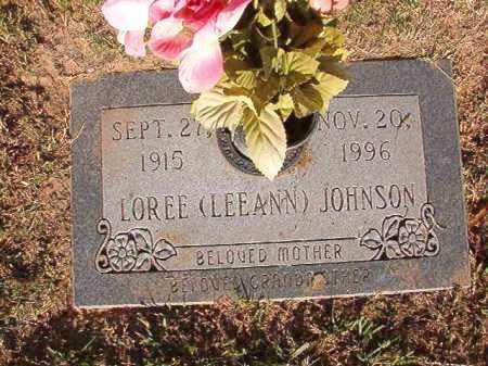 JOHNSON, LOREE (LEEANN) - Pulaski County, Arkansas | LOREE (LEEANN) JOHNSON - Arkansas Gravestone Photos