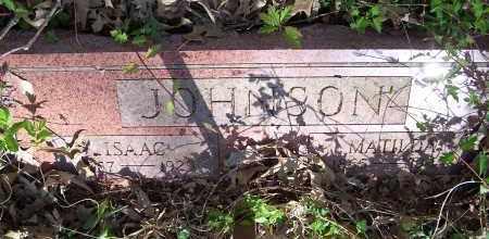 JOHNSON, ISAAC - Pulaski County, Arkansas | ISAAC JOHNSON - Arkansas Gravestone Photos