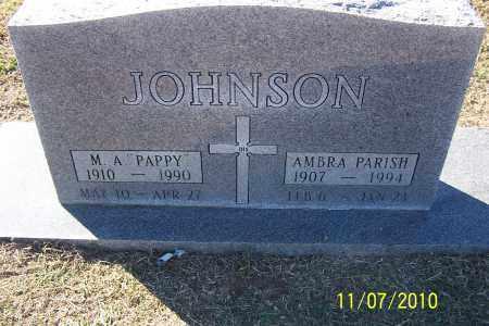JOHNSON, M A - Pulaski County, Arkansas   M A JOHNSON - Arkansas Gravestone Photos