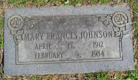 JOHNSON, MARY FRANCIS - Pulaski County, Arkansas | MARY FRANCIS JOHNSON - Arkansas Gravestone Photos