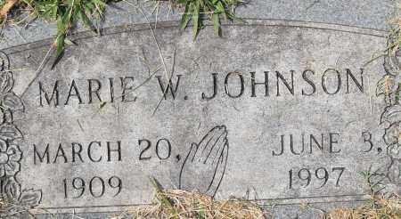 JOHNSON, MARIE W - Pulaski County, Arkansas   MARIE W JOHNSON - Arkansas Gravestone Photos