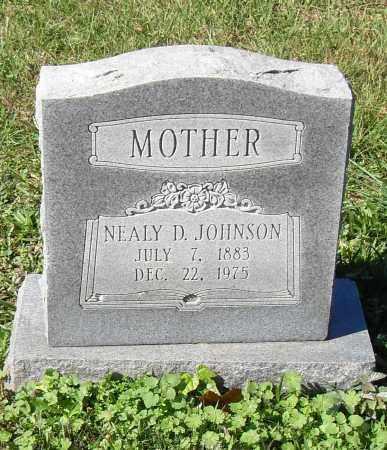 JOHNSON, NEALY D - Pulaski County, Arkansas | NEALY D JOHNSON - Arkansas Gravestone Photos