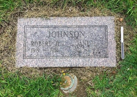 JOHNSON, ROBERT H. - Pulaski County, Arkansas | ROBERT H. JOHNSON - Arkansas Gravestone Photos