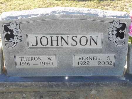 JOHNSON, THERON W - Pulaski County, Arkansas | THERON W JOHNSON - Arkansas Gravestone Photos