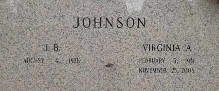 JOHNSON, VIRGINIA A - Pulaski County, Arkansas | VIRGINIA A JOHNSON - Arkansas Gravestone Photos