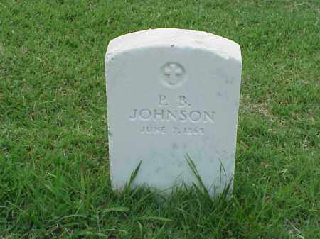 JOHNSON, P B - Pulaski County, Arkansas   P B JOHNSON - Arkansas Gravestone Photos