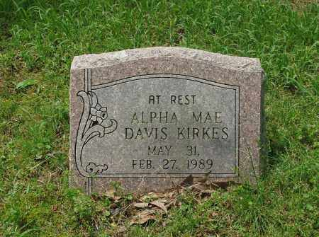 KIRKES, ALPHA MAE - Pulaski County, Arkansas   ALPHA MAE KIRKES - Arkansas Gravestone Photos