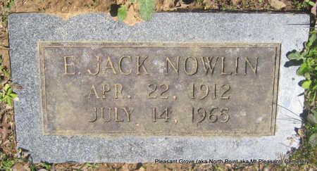 NOWLIN, E JACK - Pulaski County, Arkansas | E JACK NOWLIN - Arkansas Gravestone Photos