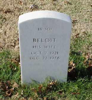 EVANS, BELOIT - Pulaski County, Arkansas   BELOIT EVANS - Arkansas Gravestone Photos
