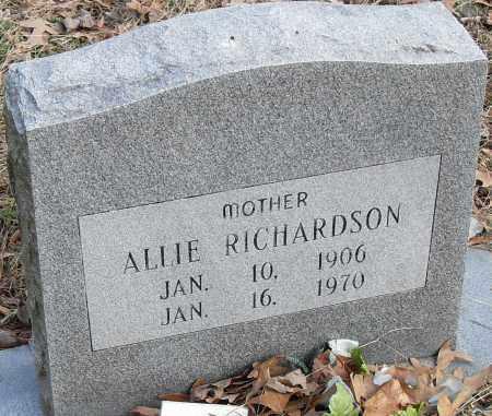 RICHARDSON, ALLIE - Pulaski County, Arkansas | ALLIE RICHARDSON - Arkansas Gravestone Photos