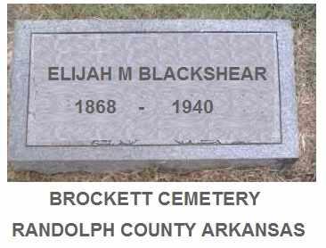 BLACKSHEAR, JR., ELIJAH - Randolph County, Arkansas | ELIJAH BLACKSHEAR, JR. - Arkansas Gravestone Photos