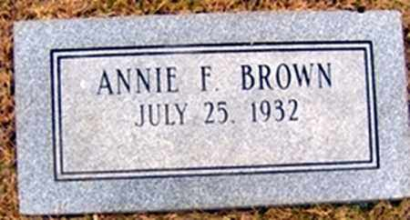 BROWN, ANNIE - Randolph County, Arkansas | ANNIE BROWN - Arkansas Gravestone Photos