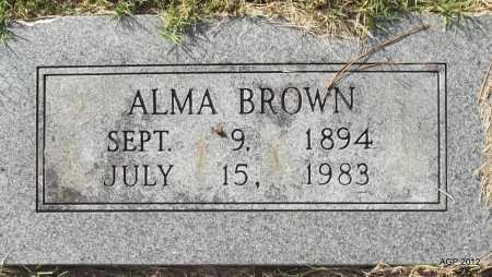 BROWN, ALMA - Randolph County, Arkansas | ALMA BROWN - Arkansas Gravestone Photos