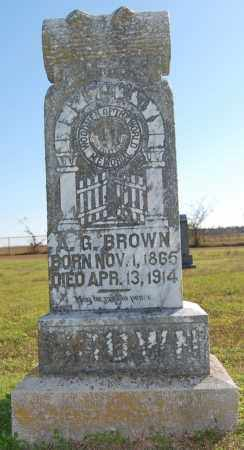 BROWN, AARON GREENBERRY - Randolph County, Arkansas | AARON GREENBERRY BROWN - Arkansas Gravestone Photos