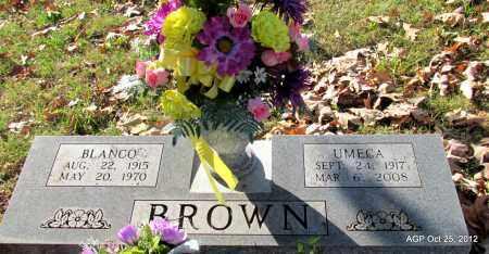BROWN, BLANCO - Randolph County, Arkansas | BLANCO BROWN - Arkansas Gravestone Photos