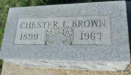 BROWN, CHESTER L - Randolph County, Arkansas | CHESTER L BROWN - Arkansas Gravestone Photos