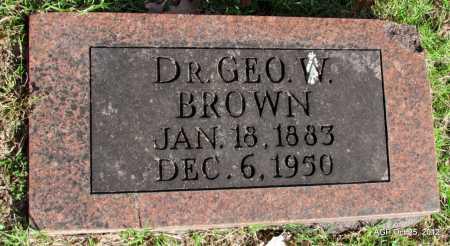 BROWN, GEORGE W., DR. - Randolph County, Arkansas | GEORGE W., DR. BROWN - Arkansas Gravestone Photos