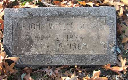 BROWN, JOHN WESLEY, DR - Randolph County, Arkansas | JOHN WESLEY, DR BROWN - Arkansas Gravestone Photos