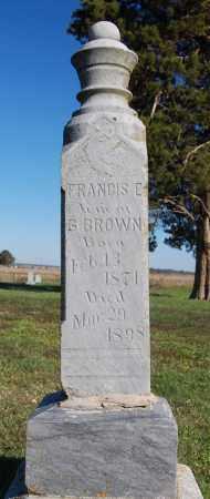 BROWN, FRANCIS E. - Randolph County, Arkansas | FRANCIS E. BROWN - Arkansas Gravestone Photos