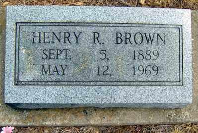 BROWN, HENRY R - Randolph County, Arkansas   HENRY R BROWN - Arkansas Gravestone Photos