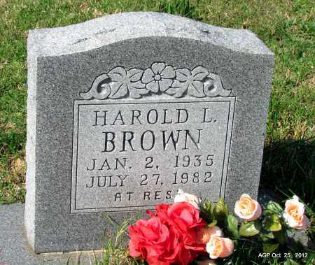 BROWN, HAROLD L - Randolph County, Arkansas | HAROLD L BROWN - Arkansas Gravestone Photos