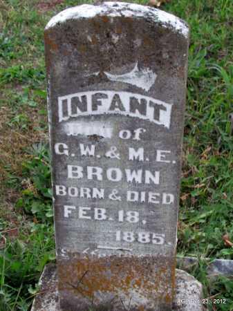 BROWN, INFANT DAUGHTER VERMILYE - Randolph County, Arkansas | INFANT DAUGHTER VERMILYE BROWN - Arkansas Gravestone Photos