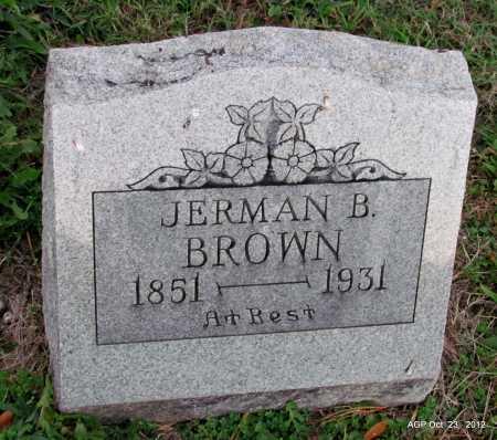 BROWN, JERMAN B - Randolph County, Arkansas | JERMAN B BROWN - Arkansas Gravestone Photos