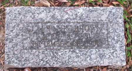 BROWN, J FRANK - Randolph County, Arkansas | J FRANK BROWN - Arkansas Gravestone Photos