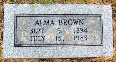 BROWN, MINNIE ALMA - Randolph County, Arkansas | MINNIE ALMA BROWN - Arkansas Gravestone Photos