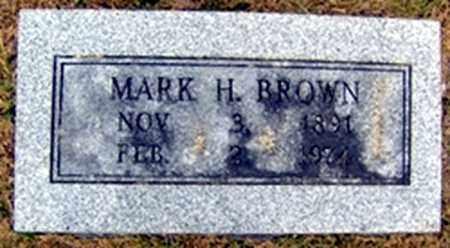 BROWN, MARK HUGHES - Randolph County, Arkansas | MARK HUGHES BROWN - Arkansas Gravestone Photos