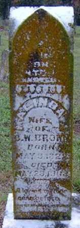 BROWN, MALINDA - Randolph County, Arkansas | MALINDA BROWN - Arkansas Gravestone Photos