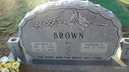 BROWN, MATTHIAS D - Randolph County, Arkansas | MATTHIAS D BROWN - Arkansas Gravestone Photos
