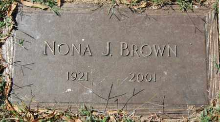 BROWN, NONA J. - Randolph County, Arkansas | NONA J. BROWN - Arkansas Gravestone Photos