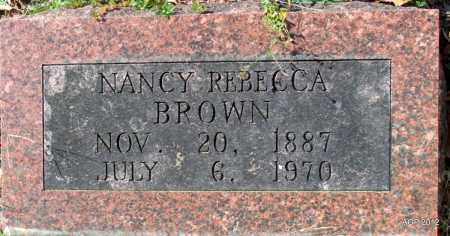 BROWN, NANCY REBECCA - Randolph County, Arkansas | NANCY REBECCA BROWN - Arkansas Gravestone Photos