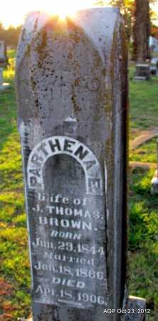 BROWN, PARTHENA E - Randolph County, Arkansas   PARTHENA E BROWN - Arkansas Gravestone Photos