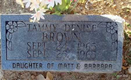 BROWN, TAMMY  DENISE - Randolph County, Arkansas | TAMMY  DENISE BROWN - Arkansas Gravestone Photos