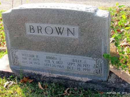 BROWN, BILLIE J - Randolph County, Arkansas | BILLIE J BROWN - Arkansas Gravestone Photos
