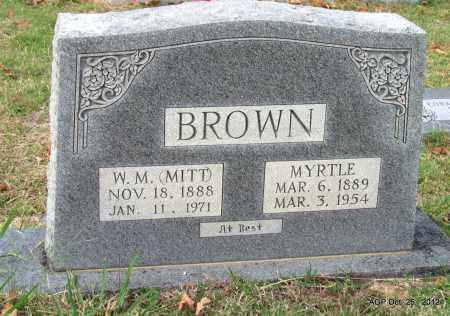 BROWN, MYRTLE - Randolph County, Arkansas | MYRTLE BROWN - Arkansas Gravestone Photos