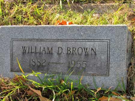 BROWN, WILLIAM D - Randolph County, Arkansas | WILLIAM D BROWN - Arkansas Gravestone Photos
