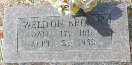 BROWN, WELDON - Randolph County, Arkansas | WELDON BROWN - Arkansas Gravestone Photos