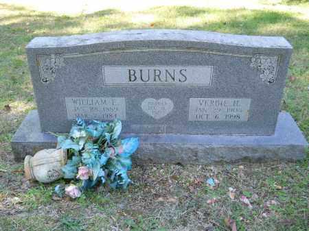 BURNS, WILLIAM E - Randolph County, Arkansas | WILLIAM E BURNS - Arkansas Gravestone Photos