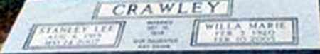 PARK CRAWLEY, WILLA MARIE - Randolph County, Arkansas | WILLA MARIE PARK CRAWLEY - Arkansas Gravestone Photos