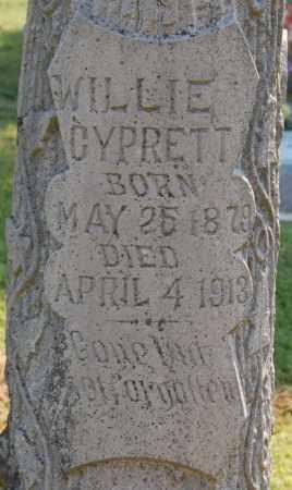 CYPRETT, WILLE - Randolph County, Arkansas   WILLE CYPRETT - Arkansas Gravestone Photos
