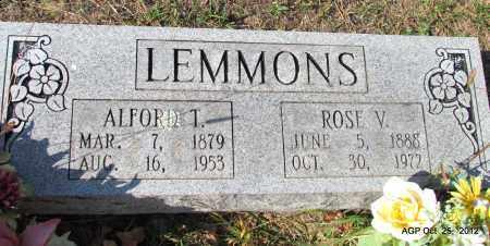 LEMMONS, ALFORD T - Randolph County, Arkansas | ALFORD T LEMMONS - Arkansas Gravestone Photos
