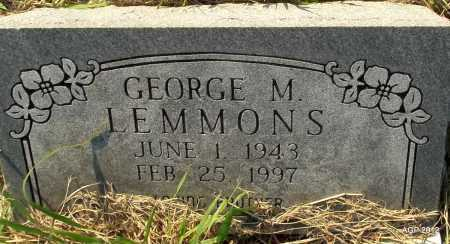 LEMMONS, GEORGE M - Randolph County, Arkansas | GEORGE M LEMMONS - Arkansas Gravestone Photos