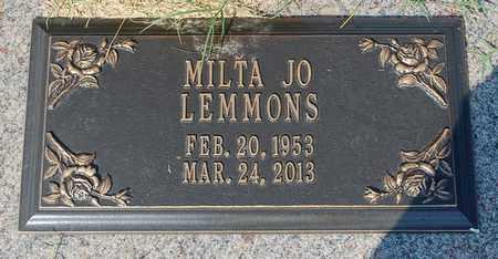 LEMMONS, MILTA JO - Randolph County, Arkansas   MILTA JO LEMMONS - Arkansas Gravestone Photos