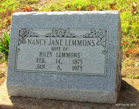LEMMONS, NANCY JANE - Randolph County, Arkansas | NANCY JANE LEMMONS - Arkansas Gravestone Photos