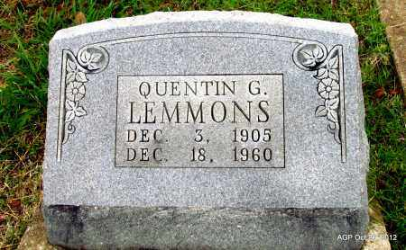 LEMMONS, QUENTIN G - Randolph County, Arkansas   QUENTIN G LEMMONS - Arkansas Gravestone Photos